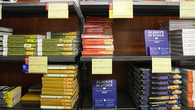 textbook shelf