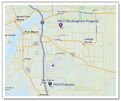 Buckingham Location Map