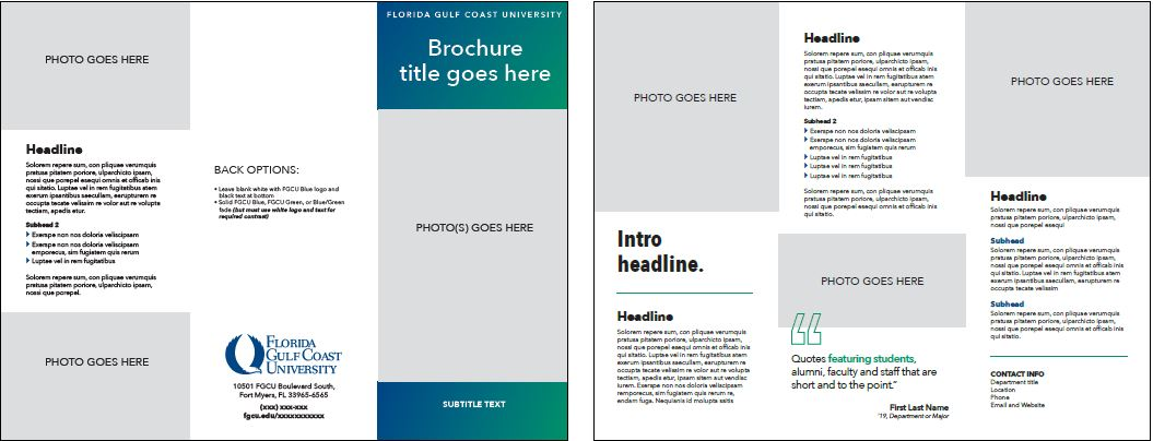 Template Trifold Brochure