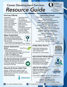 A thumbnail image of the 2021 Career Services Resource Guide.
