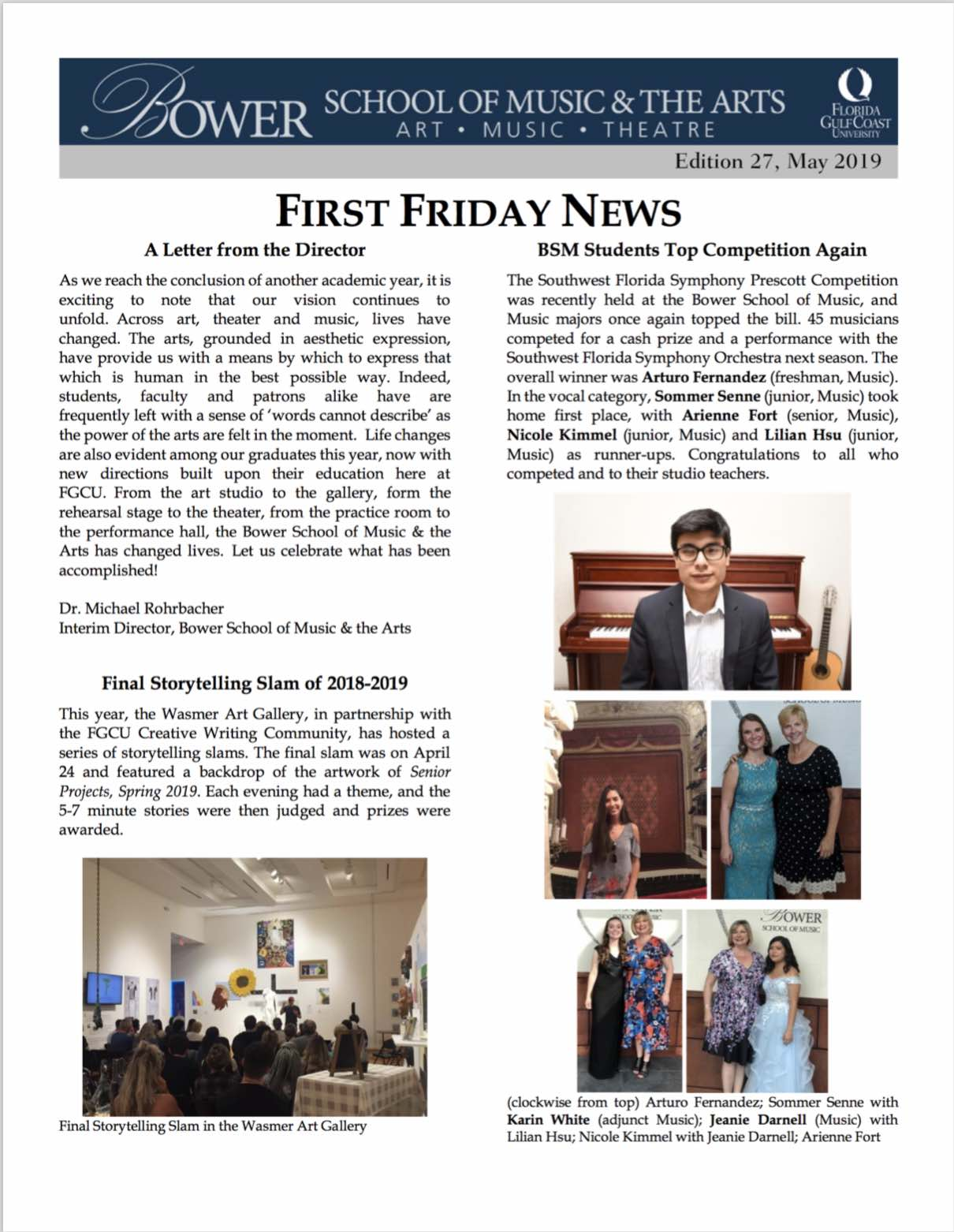 First Friday News