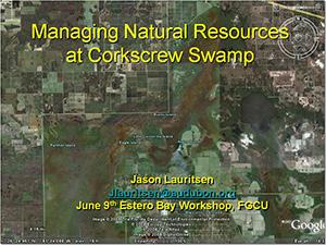 Corkscrew Swamp Presentation