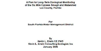 Six Mile Cypress Long Term Ecological Monitoring Plan