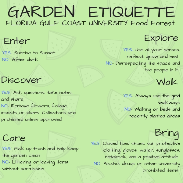 Garden Etiquette for the Food Forest