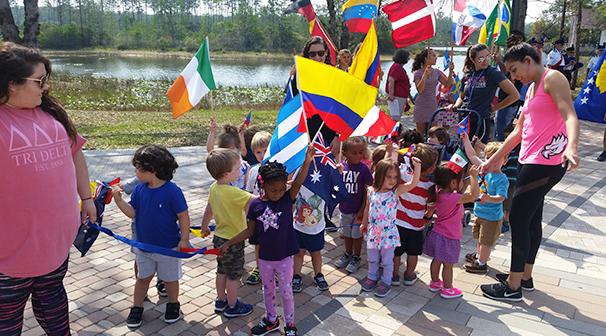 Kids taking a tour