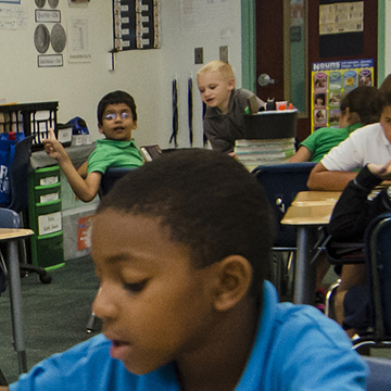young students in a classroom setting
