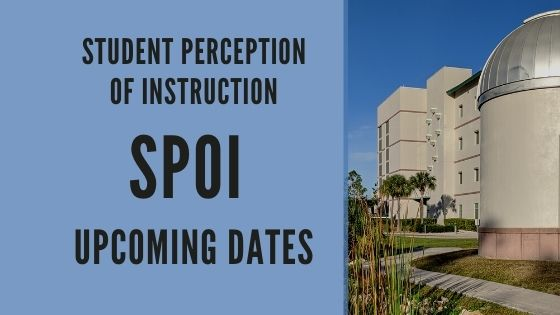 Fall 2021 Dates for Student Perception of Instruction (SPoI)
