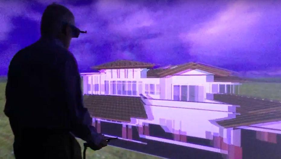 Dean Behr in VR lab.