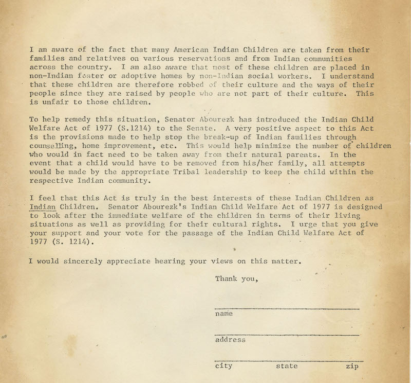 1977 Letter of Reeducation