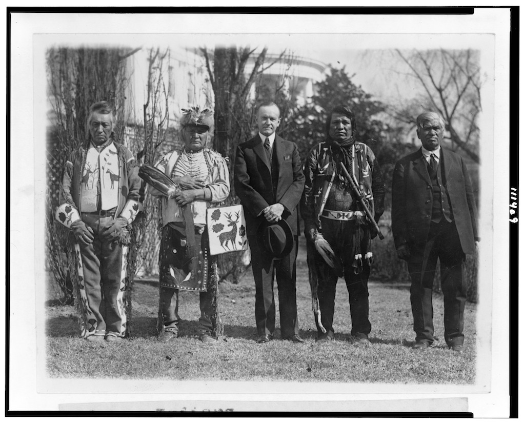 president cooliage and native americans