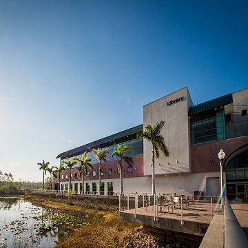 front of fgcu library