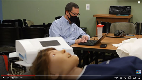 Simulator dummies help train future healthcare workers at FGCU