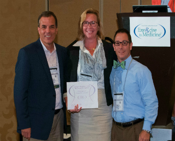College of Health and Human Services, were presented FGCU's Silver Exercise is Medicine recognition award