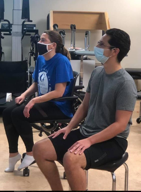Physical Therapy Students Wear a Mask in Lab