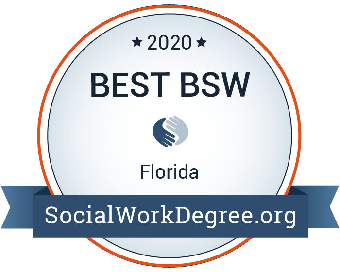 2020 Best BSW in Florida badge