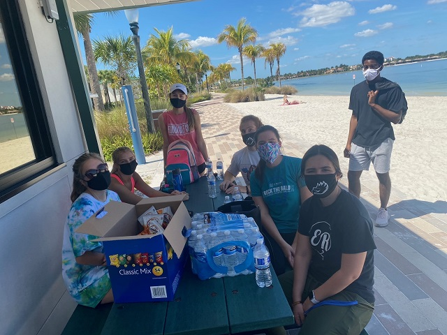 OCF students at the FGCU Northlake Waterfront