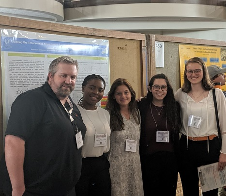 Kristina Gusty (far right) with faculty mentor Dr. McManus (far left) and fellow students (middle)