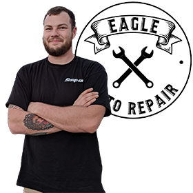 FGCU Entrepreneurship Major and Veterans Florida Entrepreneurship Program Participant Corey Umstott started Eagle Auto Repair