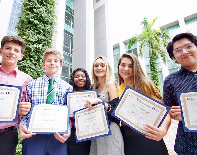 CEO Academy Students Present Awards