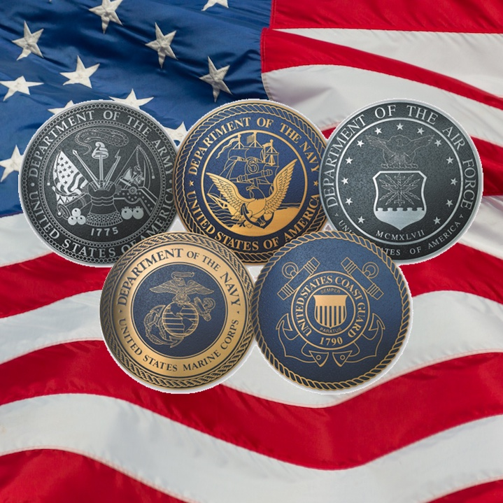 Departments of the Military on the American Flag