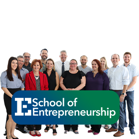Photo of the faculty and staff team at the School of Entrepreneurship at FGCU