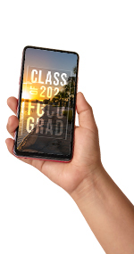 iphone with FGCU wallpaper