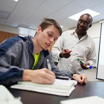 FGCU student and professor