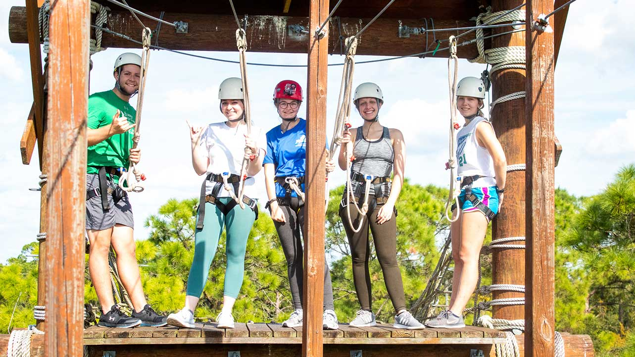 participants on Eagle Challenge Course