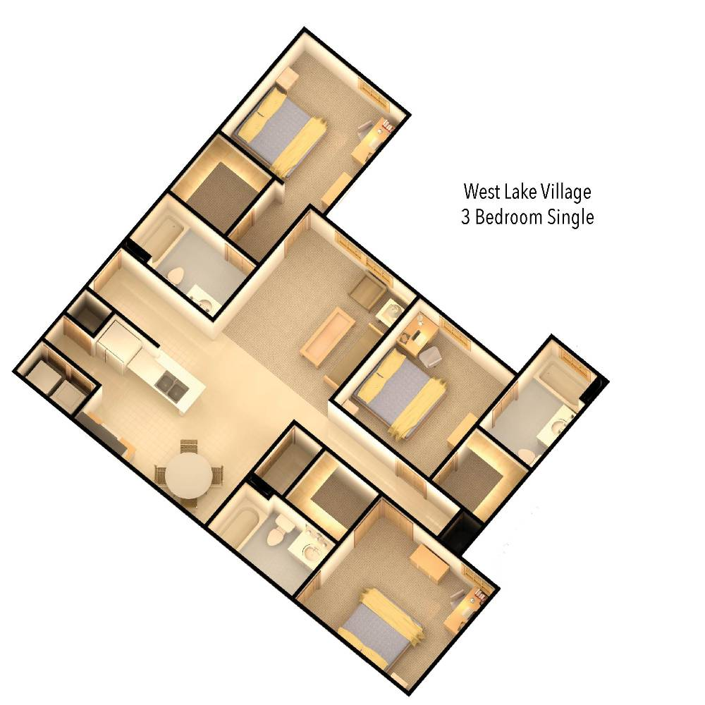 wlv 3 bedroom floor plan