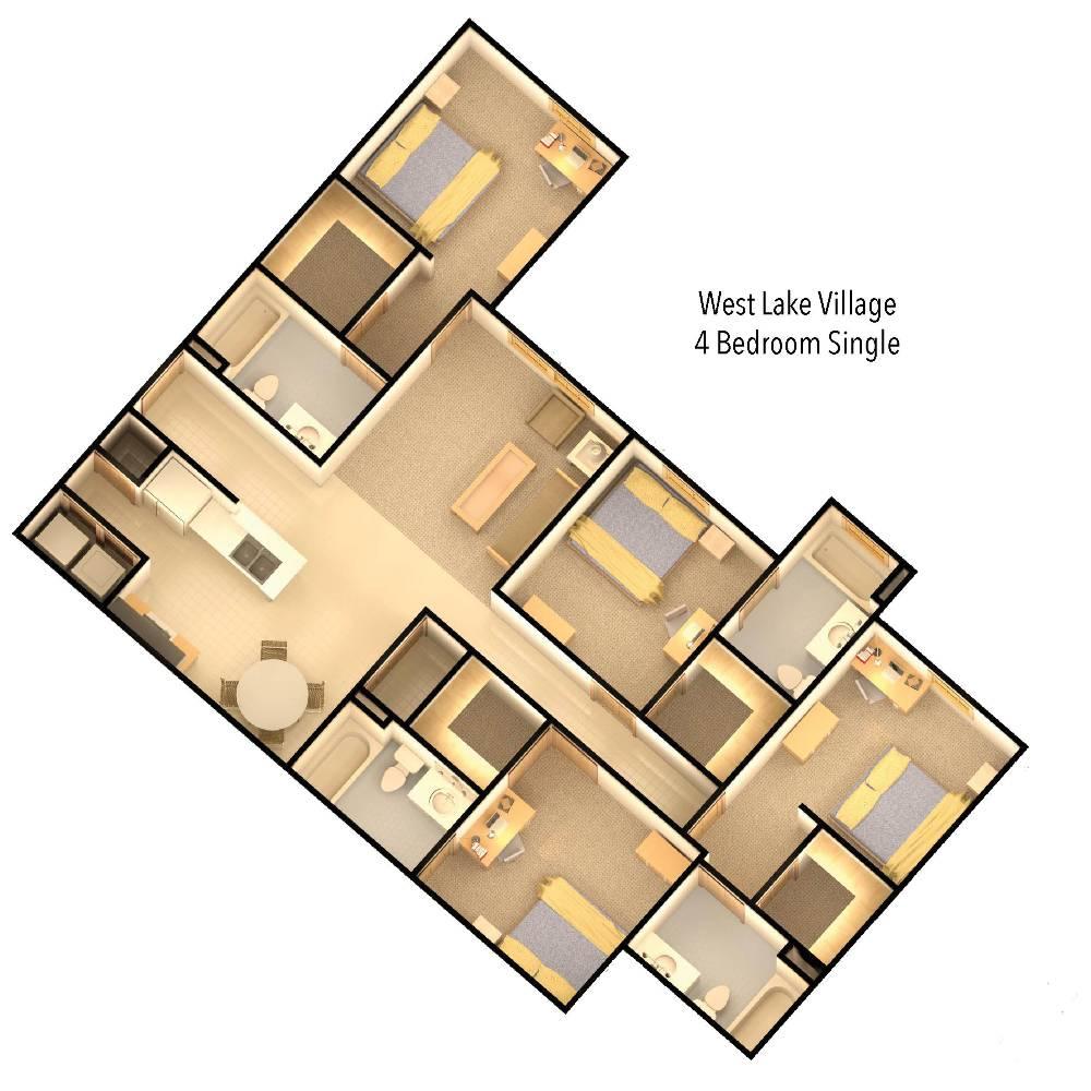 wlv 4 bedroom floor plan