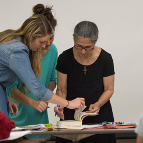 Photo of faculty member teaching