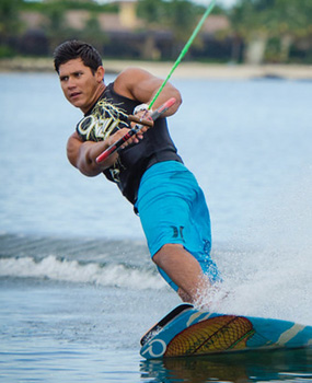 Wakeboarding on lake