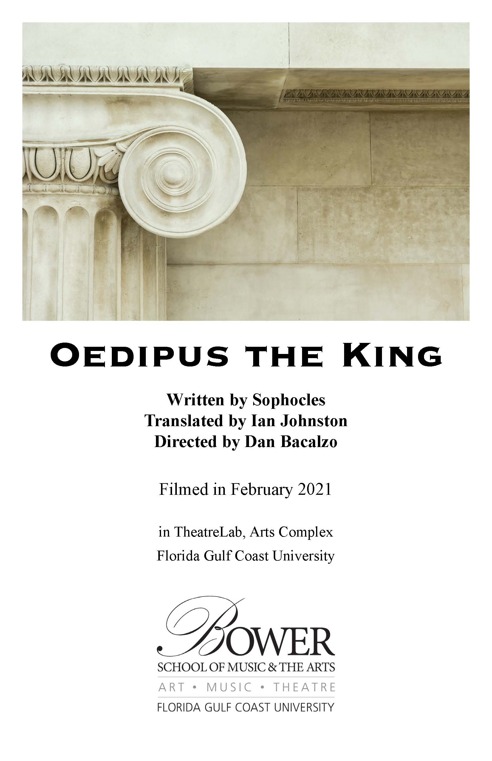 Oedipus the King program cover