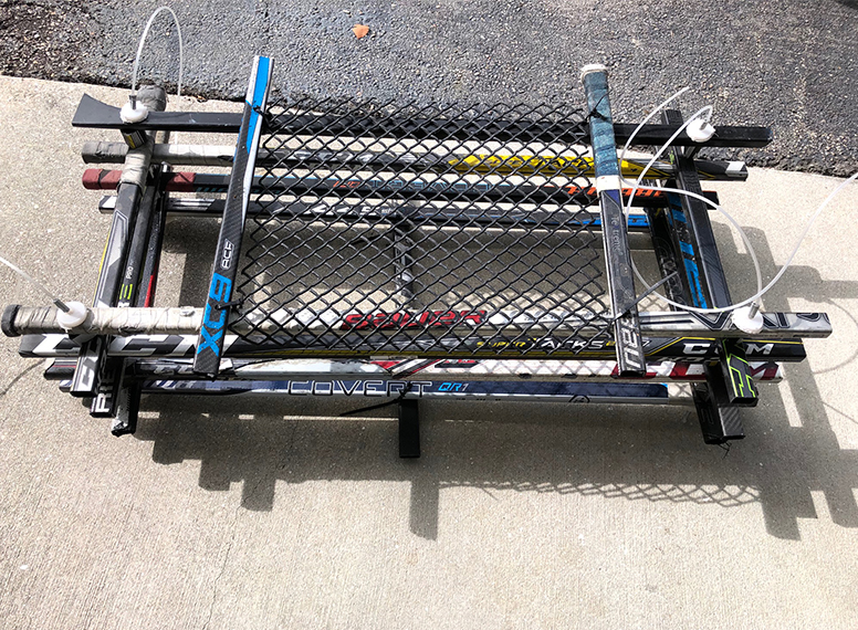 Hockey sticks made into net