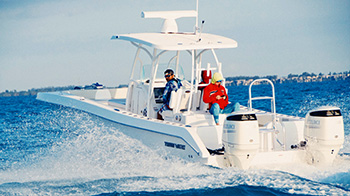 Twin Vee research boat