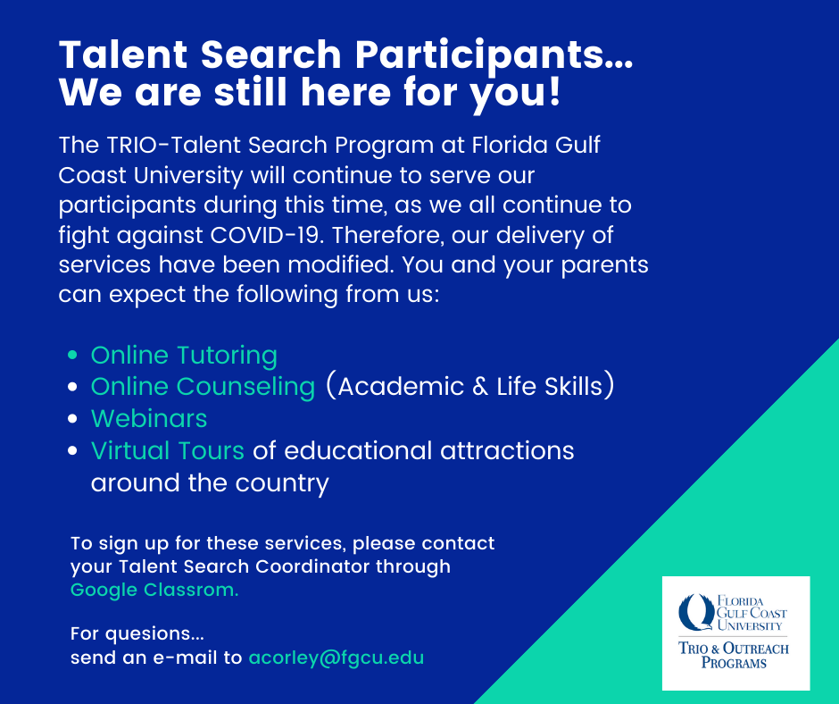 Trio/Outreach Talent Search flyer - decorative image